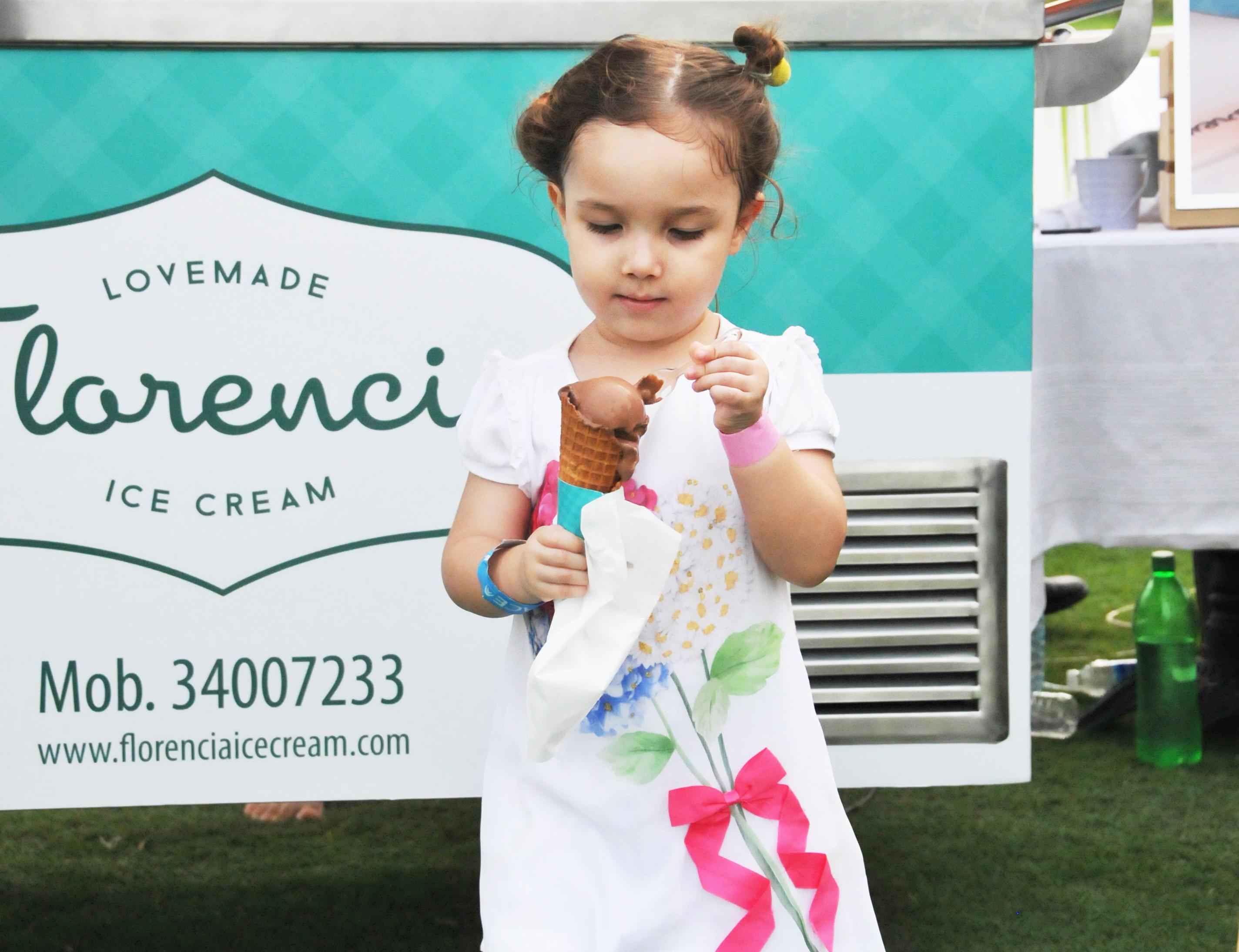 Little girl ice cream - web slide show