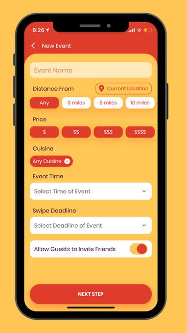 Create an Event screen