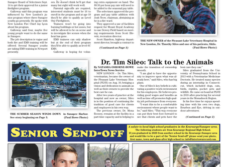 The September 22, 2020 edition of the InterTown Record is now available online!