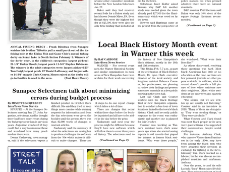 The February 4, 2020 edition of the InterTown Record is now available online!