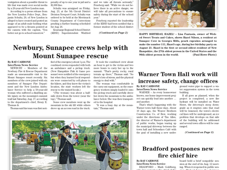 The August 27, 2019 edition of the InterTown Record is now available online!