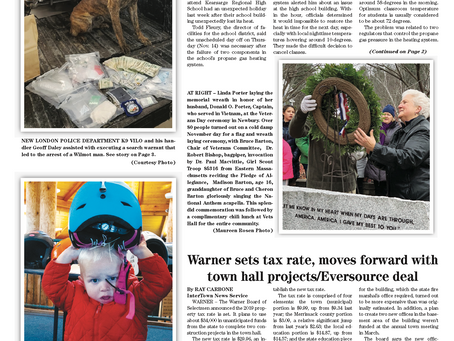 The November 19, 2019 edition of the InterTown Record is now available online!