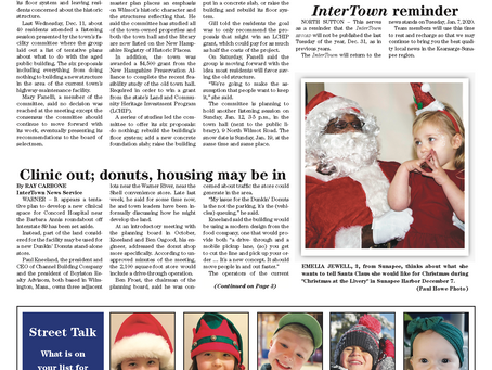 The December 17, 2019 edition of the InterTown Record is now available online!