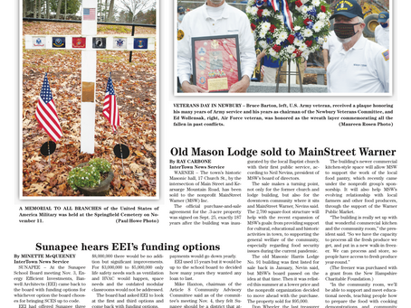 November 17, 2020 edition of the InterTown Record is now available online!