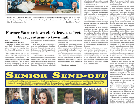 The September 29, 2020 edition of the InterTown Record is now available online!