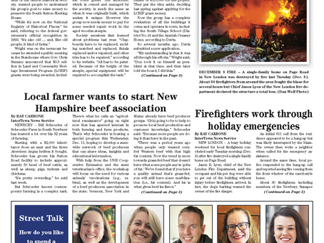 The December 10, 2019 edition of the InterTown Record is now available online!