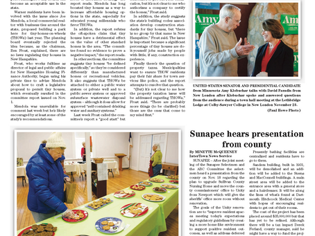 The November 26, 2019 edition of the InterTown Record is now available online!