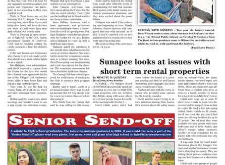 The October 13, 2020 edition of the InterTown Record is now available online!