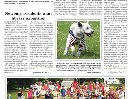 The July 9, 2019 edition of the InterTown Record is now available online!