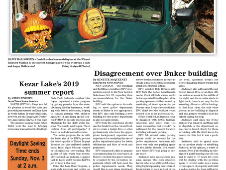 The October 29, 2019 edition of the InterTown Record is now available online!