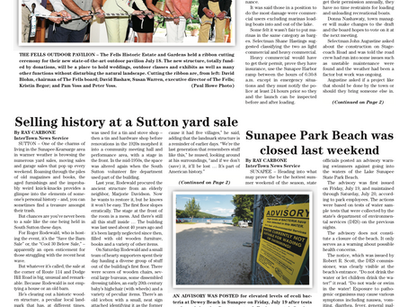 The July 23, 2019 edition of the InterTown Record is now available online!