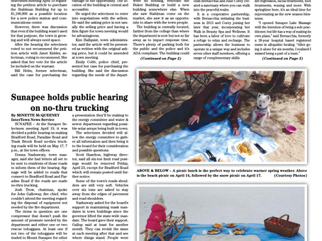 The April 27, 2021 edition of the InterTown Record is now available online!