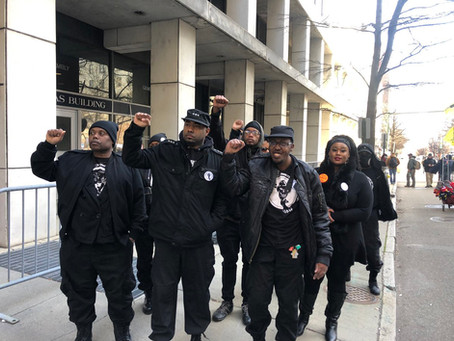 Black Panthers Attend Richmond 2A Rally