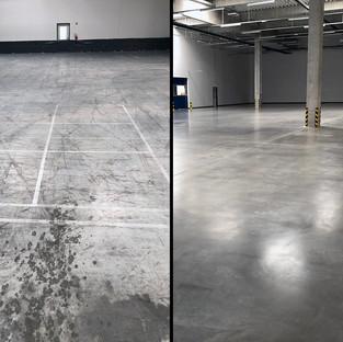 Üzem padlójának polírozása és pormentesítése C2™ technológiával   8000 m2