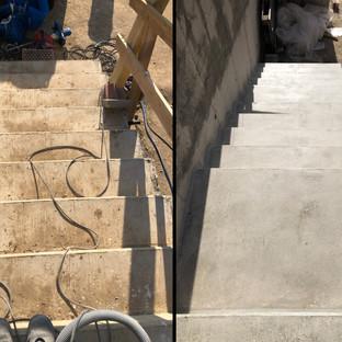 Óvoda kültéri lépcsőjének rendbehozatala
