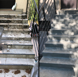 Életveszélyes lépcső restaurálása