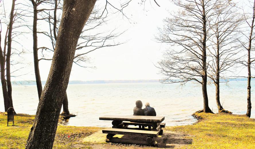Dont talk, just listen, The Busnieku Lake near Ventspils, April 2017