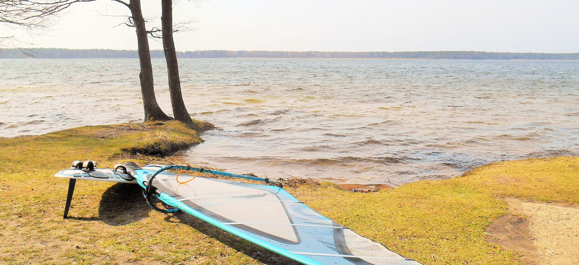 Waiting for the windsound, Busnieku Lake near Ventspils, April 2017