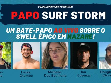 LIVE com Gigantes do big surf debateu o swell épico em Nazaré e aponta possíveis quebras de recordes