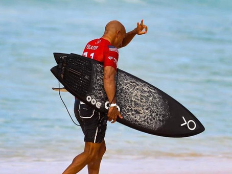 Kelly Slater e sua prancha biquilha que dominou Backdoor