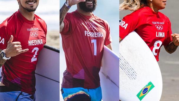 SURF NAS OLIMPÍADAS: Três brasileiros avançam e finais são antecipadas para esta segunda-feira