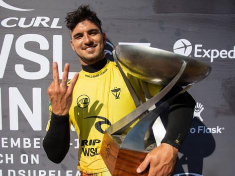 """Medina fora do CT 2022? Após conquistar o tricampeonato, brasileiro pensa em """"dar uma pausa"""" no tour"""
