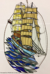 Polish Ship Dar Mlodziezy at Boston Harbor, Paul Dowgiert