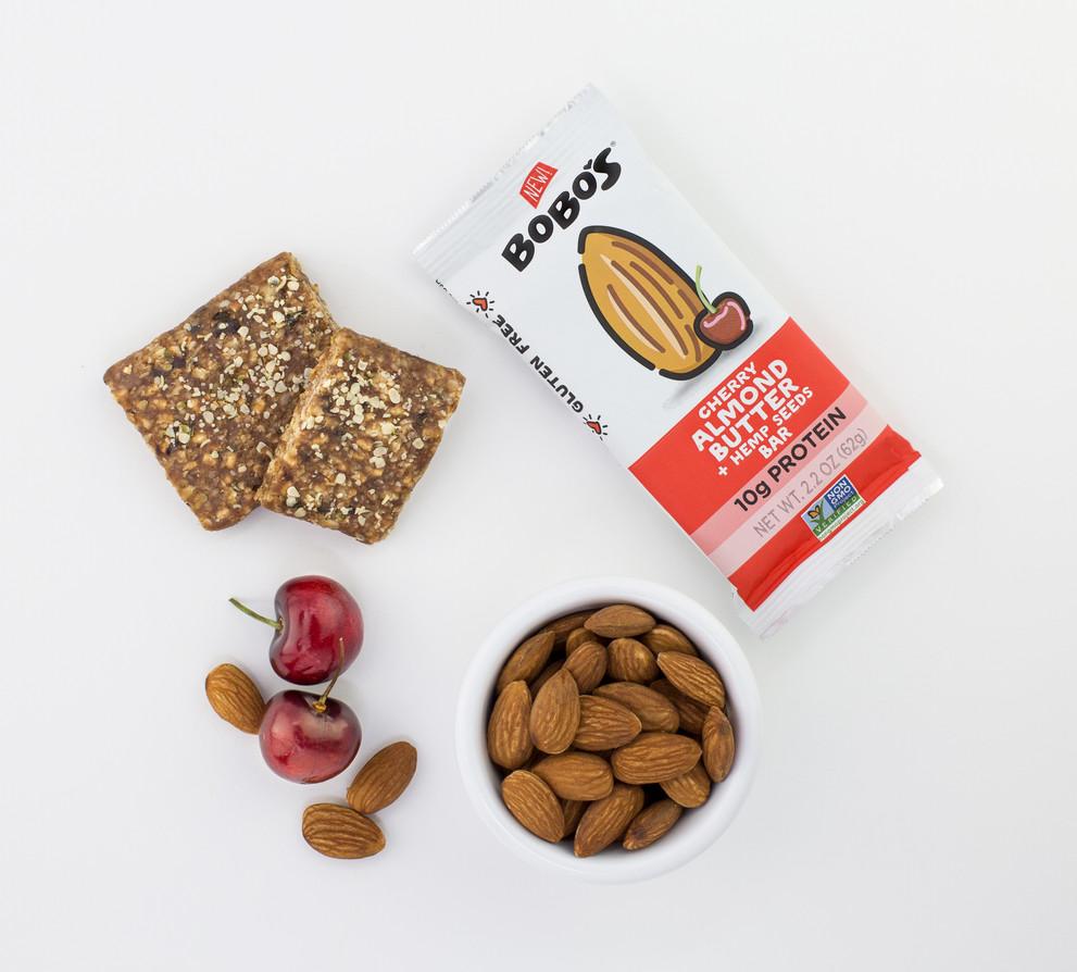 Bobos Protein Bar Overhead_Beauty_Cherry