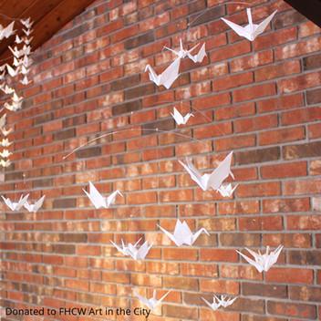 Deborah Argueta, All White Origami Paper Crane