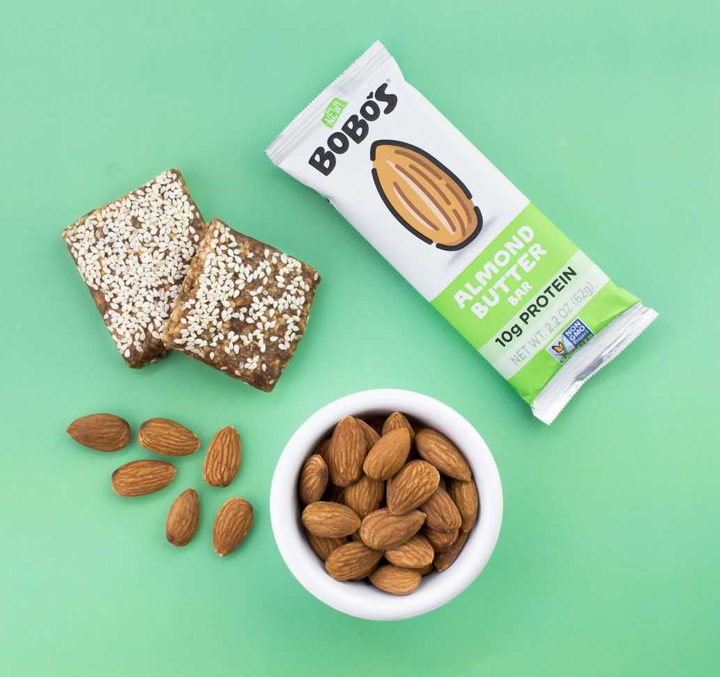 Bobos Protein Bar Overhead_Beauty_Almond
