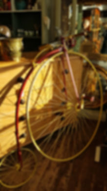 Racing Penny Farthing circa 1880 by Jame