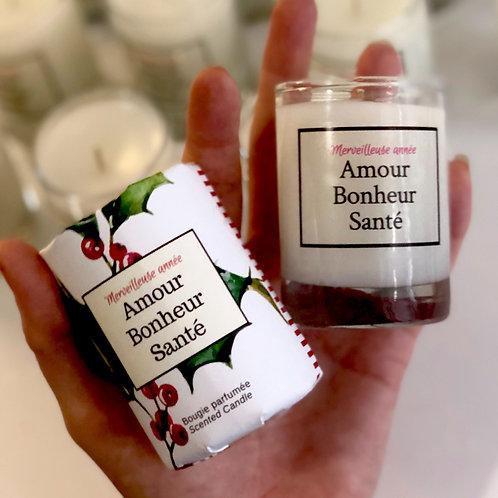 Mini-Bougie Amour-Bonheur-Santé