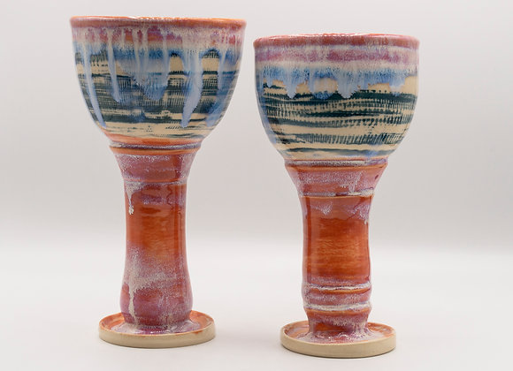 Pink and blue Goblet