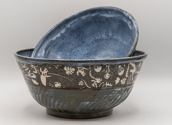 Fossil bowl Set of 2