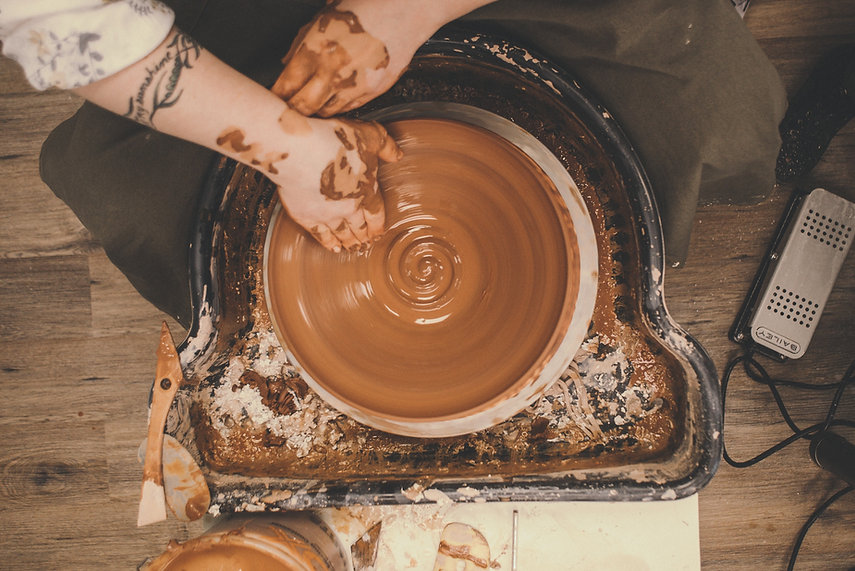 Mud Pottery In Ceramic Studio
