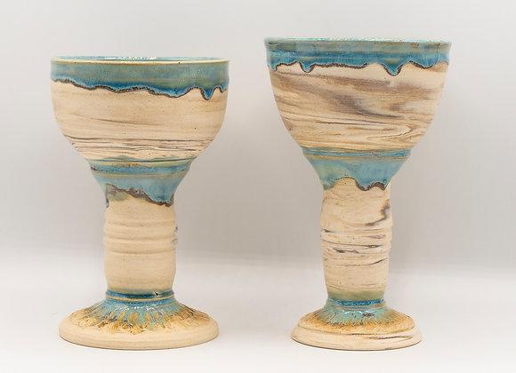 Marbled Blue Goblet