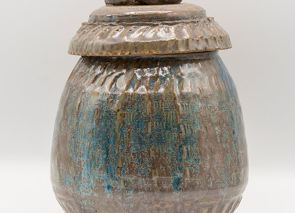 Curled Knob Jar