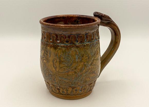 Floral Tooled Mug