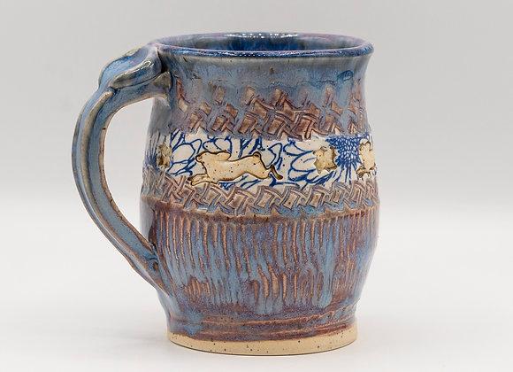 Rabbit Floral Mug