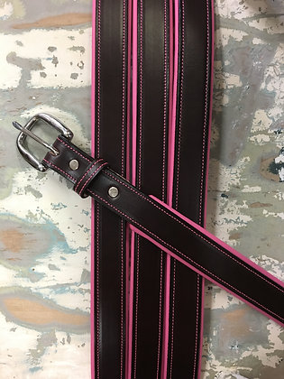 Havana and Pink Padded Belt