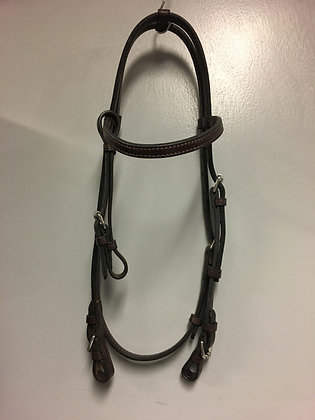 Leather Headstall with Chin Strap