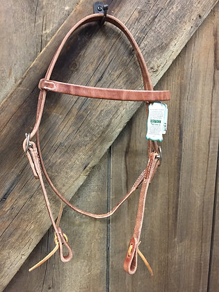 Western Headstall with Browband Hermann Oaks Leather