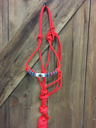 Beaded Rope Halter and Lead