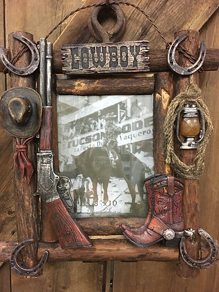 Western Theme Picture Frame
