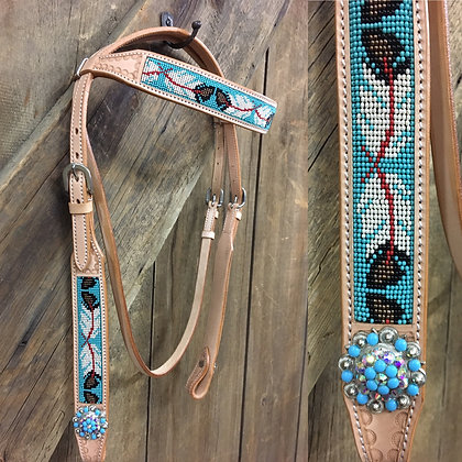 Fancy Beaded Headstall