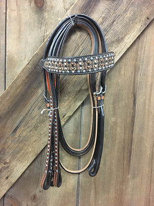 Beaded Bridle And Rein Set