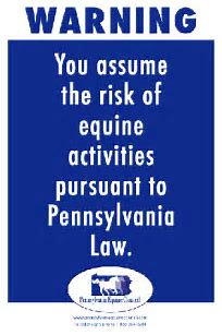 PA Equine Liability Sign Set