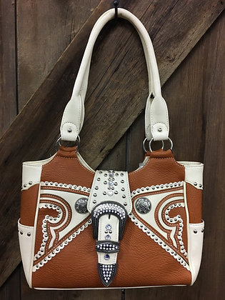 Bling Purse Chestnut and Cream