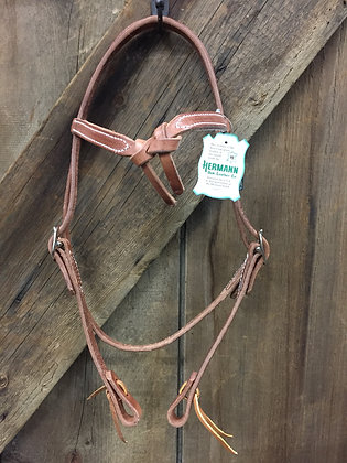 Knotted Brow Headstall Hermann Oaks Leather