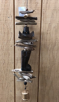 Boots and Hat Wind Chime